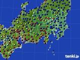 関東・甲信地方のアメダス実況(日照時間)(2020年10月11日)
