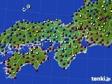 近畿地方のアメダス実況(日照時間)(2020年10月11日)