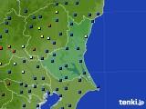 茨城県のアメダス実況(日照時間)(2020年10月11日)