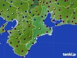 三重県のアメダス実況(日照時間)(2020年10月11日)