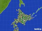 北海道地方のアメダス実況(気温)(2020年10月11日)