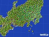 関東・甲信地方のアメダス実況(気温)(2020年10月11日)