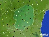 栃木県のアメダス実況(気温)(2020年10月11日)