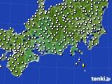 東海地方のアメダス実況(風向・風速)(2020年10月11日)