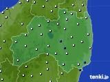 福島県のアメダス実況(風向・風速)(2020年10月11日)