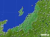 新潟県のアメダス実況(風向・風速)(2020年10月11日)