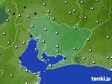 愛知県のアメダス実況(風向・風速)(2020年10月11日)
