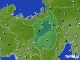2020年10月11日の滋賀県のアメダス(風向・風速)