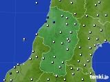 2020年10月11日の山形県のアメダス(風向・風速)