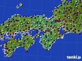 近畿地方のアメダス実況(日照時間)(2020年10月12日)