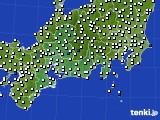 東海地方のアメダス実況(風向・風速)(2020年10月12日)