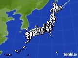 2020年10月13日のアメダス(風向・風速)