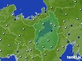 2020年10月13日の滋賀県のアメダス(風向・風速)