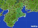 三重県のアメダス実況(日照時間)(2020年10月14日)