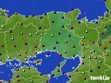 兵庫県のアメダス実況(日照時間)(2020年10月14日)