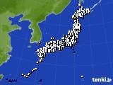 2020年10月14日のアメダス(風向・風速)