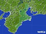 三重県のアメダス実況(風向・風速)(2020年10月14日)