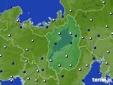 滋賀県のアメダス実況(風向・風速)(2020年10月15日)