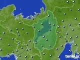 滋賀県のアメダス実況(降水量)(2020年10月17日)