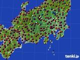 関東・甲信地方のアメダス実況(日照時間)(2020年10月20日)