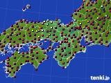 近畿地方のアメダス実況(日照時間)(2020年10月20日)