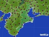 三重県のアメダス実況(日照時間)(2020年10月20日)
