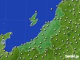 新潟県のアメダス実況(気温)(2020年10月20日)