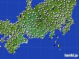 東海地方のアメダス実況(風向・風速)(2020年10月20日)