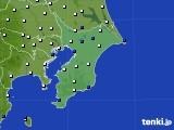 千葉県のアメダス実況(風向・風速)(2020年10月20日)