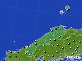 島根県のアメダス実況(風向・風速)(2020年10月20日)