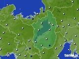 滋賀県のアメダス実況(風向・風速)(2020年10月21日)