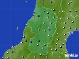 2020年10月21日の山形県のアメダス(風向・風速)