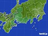 東海地方のアメダス実況(降水量)(2020年10月22日)