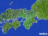 近畿地方のアメダス実況(降水量)(2020年10月22日)