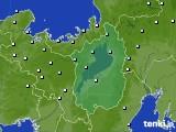 滋賀県のアメダス実況(降水量)(2020年10月22日)