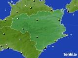 徳島県のアメダス実況(気温)(2020年10月22日)