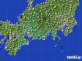 東海地方のアメダス実況(風向・風速)(2020年10月22日)