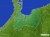 富山県のアメダス実況(風向・風速)(2020年10月22日)