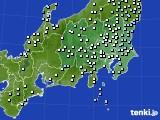 関東・甲信地方のアメダス実況(降水量)(2020年10月23日)