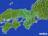 近畿地方のアメダス実況(降水量)(2020年10月23日)