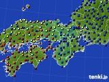 近畿地方のアメダス実況(日照時間)(2020年10月23日)