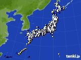 2020年10月23日のアメダス(風向・風速)