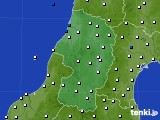 2020年10月23日の山形県のアメダス(風向・風速)