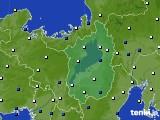 2020年10月24日の滋賀県のアメダス(風向・風速)