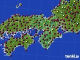 近畿地方のアメダス実況(日照時間)(2020年10月26日)
