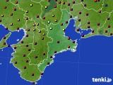 三重県のアメダス実況(日照時間)(2020年10月26日)
