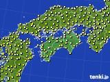 四国地方のアメダス実況(気温)(2020年10月26日)