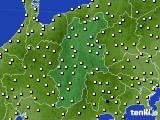長野県のアメダス実況(気温)(2020年10月26日)