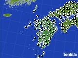 九州地方のアメダス実況(風向・風速)(2020年10月26日)