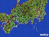 東海地方のアメダス実況(日照時間)(2020年10月27日)